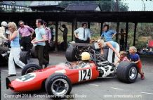 Brabham BT21 Buick. Photo. Peter Boshier-Jones. Shelsley Walsh Hillclimb 1974 (b)